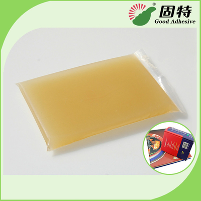 Gelatin resin Amber color Block solid Light Amber High Heat Glue / Hot Melt Glue For Semi Automatic Case Maker