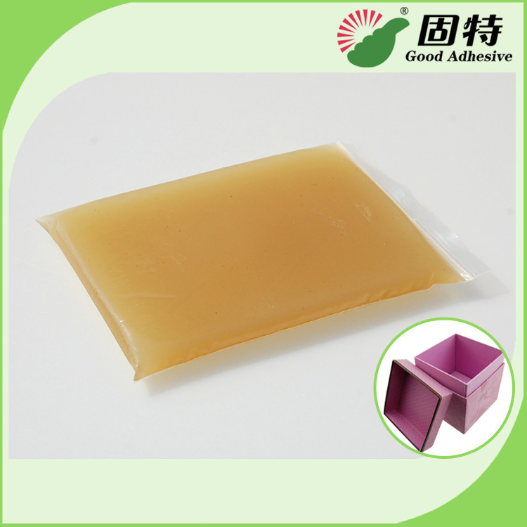 Environment Light Amber Solid Gums Glue For Shirt Packaging Box , Hot Melt Animal Glue