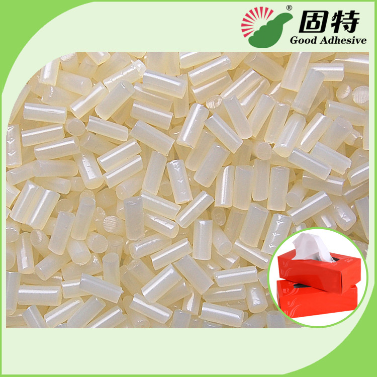 Hot Melt Glue Mainly Used for Bonding of Common Boxes Such as Tissue  Box