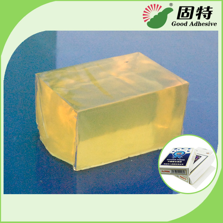 Poker Box Hot Melt Pressure Sensitive Adhesives Glue For Box , Block Shaped