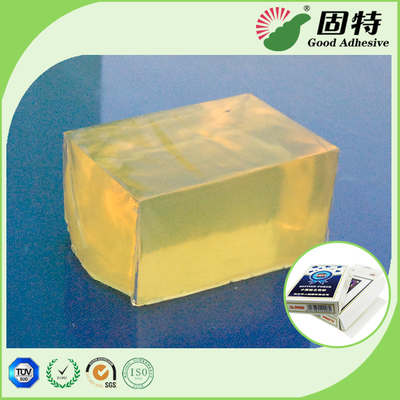 Yellowish and semi-transparent Block Hot Melt Pressure Sensitive Glue Adhesive for Poker&CardBox Making WithHigh Quality