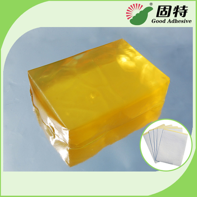 Synthetic polymer resin Medical Dressing Tape Pressure Sensitive Hot Melt Glue Yellow Transparent Color
