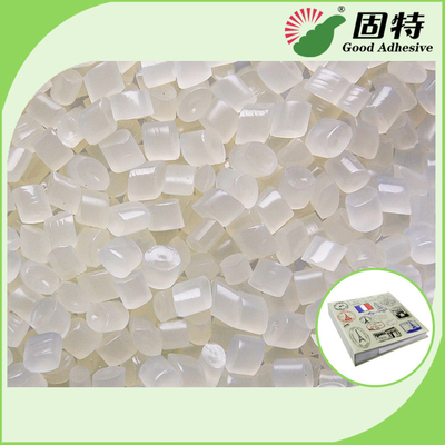 China Light Yellow Granule EVA and Viscosity resin Side glue for Mainly used for papers fixation of round back album. factory