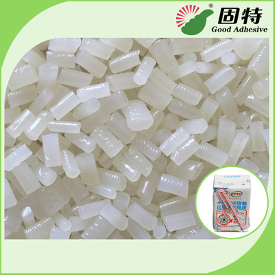 China Short Setting Time Hot Melt Glue Pellets For Straw Attachment On Beverage Boxes Such As Milk Box factory