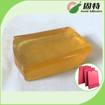 China Polyolefin Light And Semi-Transparent Block Solid Hot Melt Adhesive For Making Paper Bag factory